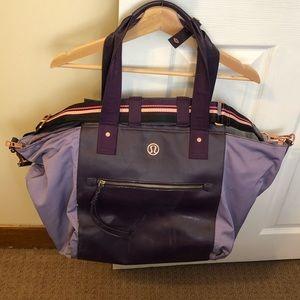 Lululemon Carry Me Om gym bag purple & rose gold